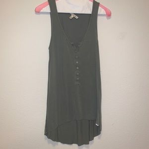 Forest Green Stretch Cotton Tank